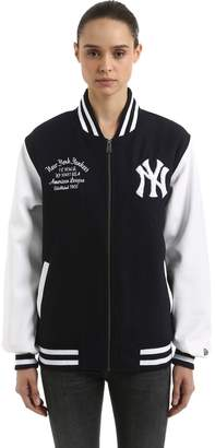 New Era Ny Yankees Wool Blend Varsity Jacket