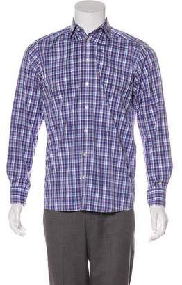 Eton Plaid Woven Shirt