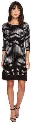 Taylor Chevron Shift Sweater Knit Dress Women's Dress