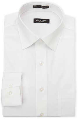 Pierre Cardin White Slim Fit Solid Dress Shirt