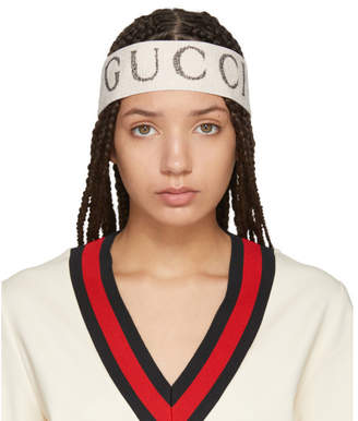 Gucci White Logo Headband