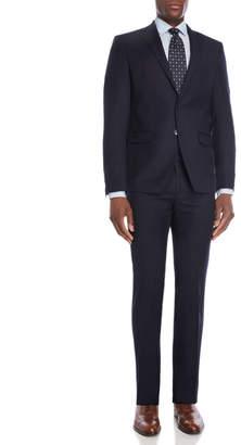 Calvin Klein Two-Piece Navy Pinstripe Suit