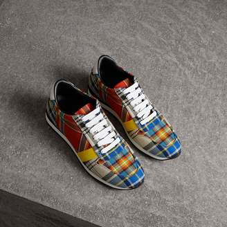 Burberry Tartan Cotton Sneakers
