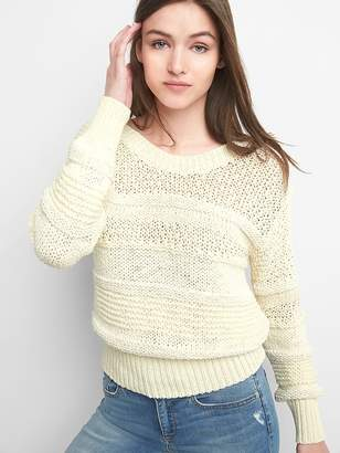 Gap Mix-Stitch Pullover Sweater