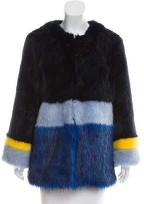 Bandits Faux Fur Striped Jacket