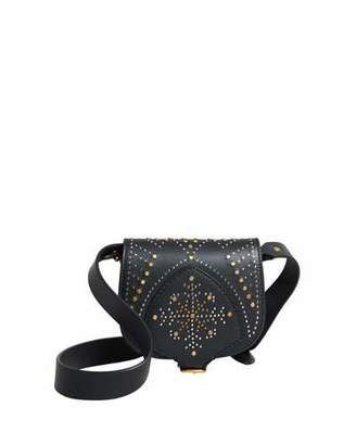 Burberry Studded Mini Leather Satchel Bag, Black