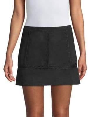 Ramy Brook Bradey Suede A-Line Skirt