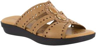 f42f3cad3f7 Easy Street Shoes Brown Women s Sandals - ShopStyle