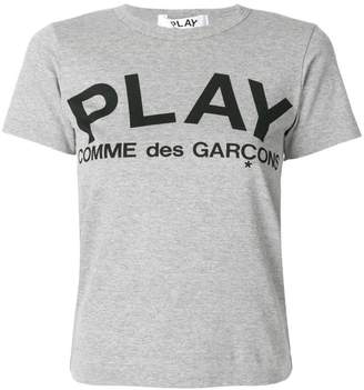 Comme des Garcons (コム デ ギャルソン) - Comme Des Garçons Play ロゴプリント Tシャツ