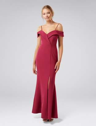 Forever New Sara Off-Shoulder Gown - Red Plum - 4