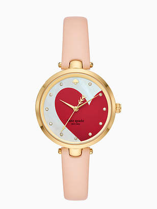Kate Spade Holland heart vachetta leather watch