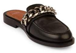 Givenchy Chain Leather Loafer Slides