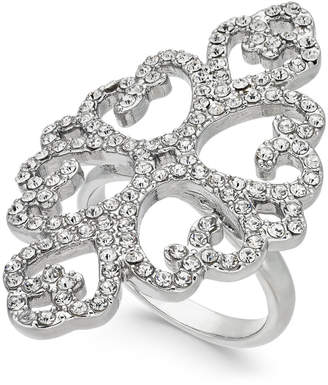 INC International Concepts I.n.c. Silver-Tone Pave Statement Ring