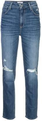 Paige distressed straight leg jeans