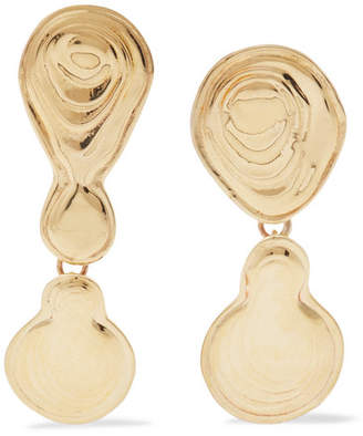 Leigh Miller - Double Drop Gold-tone Earrings