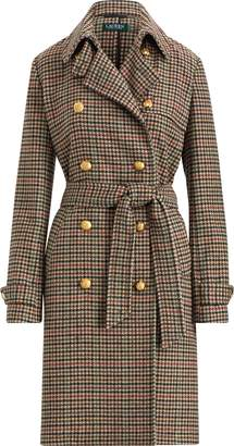 Ralph Lauren Plaid Wool-Blend Trench