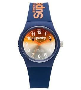 Superdry 3 Hands;Gradient Mirror Orange And Dark Blue Dial