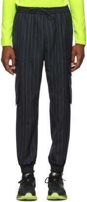 Juun.J Navy Pinstriped Cargo Pants