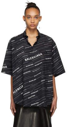 Balenciaga Black Cut Sleeves Shirt