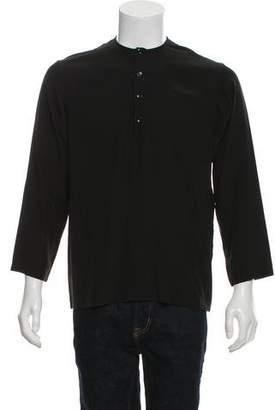 Saint Laurent Silk Popover Shirt