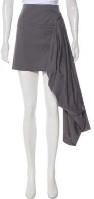 Brunello Cucinelli Draped Mini Skirt Grey Draped Mini Skirt