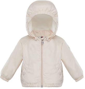 Moncler Eustache Wind-Resistant Jacket w/ Removable Hood, Size 12M-3T