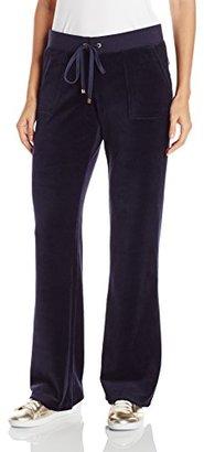 Juicy Couture Black Label Women's Bling Bootcut Velour Pant $118 thestylecure.com