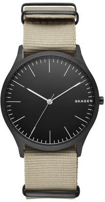 Men's Skagen Jorn Nato Nylon Strap Watch, 41Mm $105 thestylecure.com