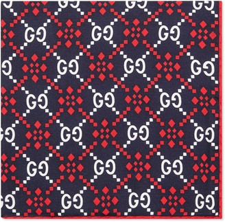 Gucci GG diamond silk pocket square