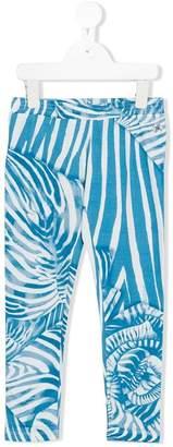 Roberto Cavalli zebra print leggings
