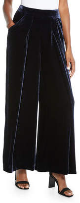 Eileen Fisher Velvet Wide-Leg Pants, Plus Size