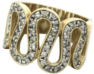Effy 14K Yellow Gold Diamond Snake Coil Wrap Band Ring Size 7.25