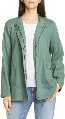 Eileen Fisher Stand Collar Organic Cotton Jacket