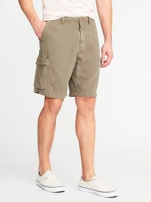 "Old Navy Linen-Blend Cargo Shorts for Men (10"")"