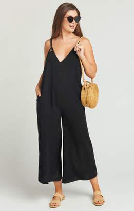 Show Me Your Mumu Jansen Jumpsuit ~ Black Linen