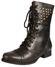 Leisha Stud Worker Lace Up Boot