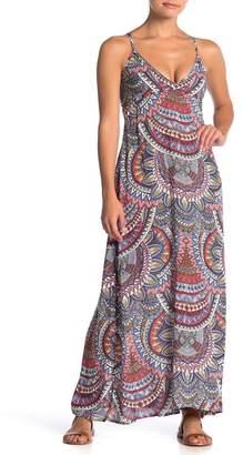 Billabong Places to Be Mixed Print Maxi Dress