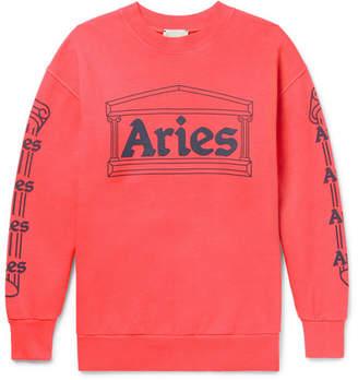 Aries Temple Printed Cotton-Jersey Sweatshirt