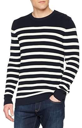 Benetton Men's Sweater L/s Plain Regular Fit Long Sleeve Jumper,Large (Manufacturer Size: Large)