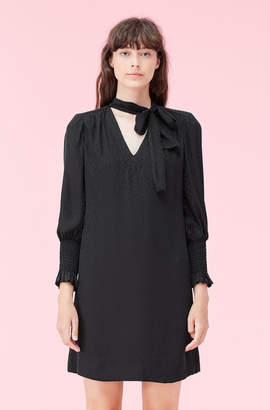 Rebecca Taylor Cheetah Jacquard Dress
