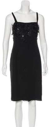 Armani Collezioni Embellished Silk Dress