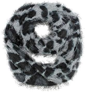 Luxury Divas Animal Print Furry Ring Scarf