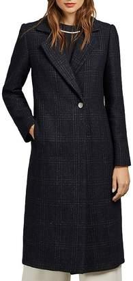 Ted Baker Jojoe Check Straight-Silhouette Coat