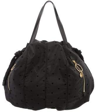 See by Chloe Leather-Trimmed Polka Dot Tote