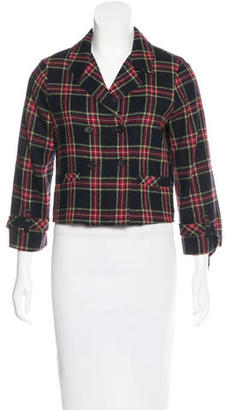 Boy. by Band of Outsiders Plaid Cropped Jacket $85 thestylecure.com