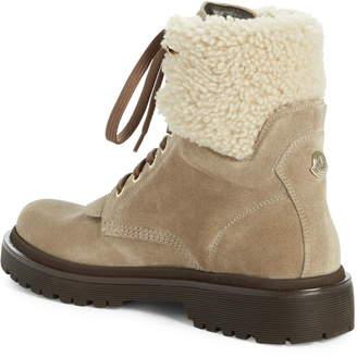 Moncler Patty Scarpa Genuine Shearling Cuff Boot