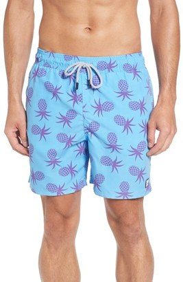 Men's Tom & Teddy Pineapple Print Swim Trunks $94.95 thestylecure.com