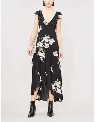 Free People She's A Waterfall floral-print rayon maxi dress