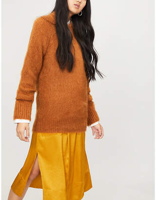Jil Sander Mohair and silk-blend loose-fit jumper