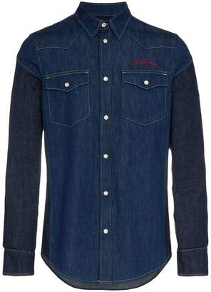Alexander McQueen two tone denim shirt